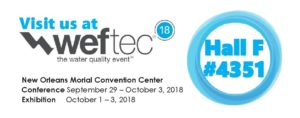 Join CMI Environment at Weftec : hall F - booth 4351